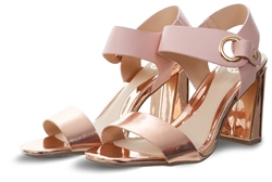 Dv8 Rose Gold Marla High Heel Panel Shoe