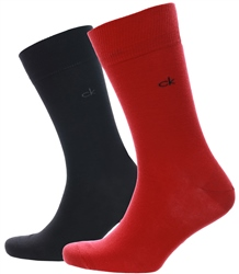Calvin Klein Red 2 Pack Crew Knitted Sock