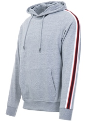 Threadbare Grey Punta Side Tape Pull Over Hoodie