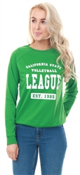 Brave Soul Emerald Green / White Leona Print Sweat