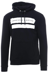 Jameson Carter Black Paint Stripe Hoodie