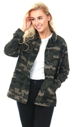 Pieces Khaki/Black Camo Print Katrine Jacket