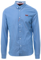 Superdry Oxford Blue Premium Button Down Shirt