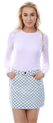 Qed Lilac Rib Knitted Crew Fitted Jumper