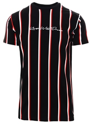 Kings Will Dream Black / Red / White Moffat Striped T-Shirt