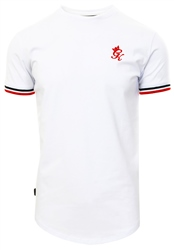 Gym King White Signature Tipped T-Shirt