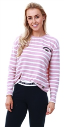Superdry Artizan Pink Stripe Penry Super Soft Top