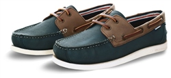 Superdry Brown/Navy Leather Deck Shoes