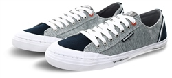 Superdry Grey Grit/Dark Navy Low Pro Retro Trainers
