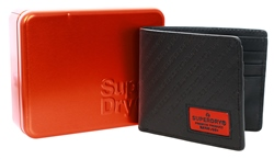 Superdry Black Badgeman Wallet In A Tin