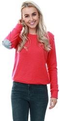 Glamorous Raspberry Elbow Patch Jumper