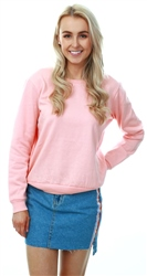 Brave Soul Peach Crew Neck Long Sleeve Sweater