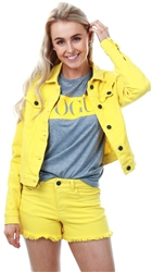 Noisy May Yellow / Dandelion Short Denim Jacket
