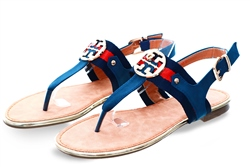 Zanni Navy New Kirk One Sandal