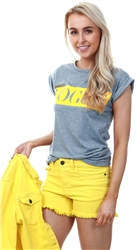 Noisy May Yellow / Dandelion Lucy Denim Shorts