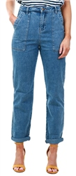 Urban Bliss Vintage Blue Denim Loose Cargo Jeans