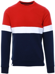 Threadbare Red Cuba Crew Sweater