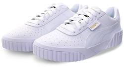 Puma White Cali Lace Up Sneakers