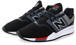 New Balance Black 247 Mesh Lace Up Trainer