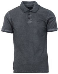 Threadbare Charcoal Fitzroy Short Sleeve Polo