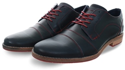 Bull Boxer Navy Lace Up Leather Shoe