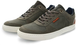 Bull Boxer Khaki Leather Lace Up Trainer