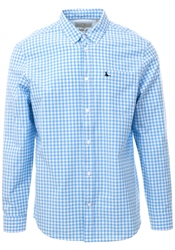 Jack Wills Pale Blue Ruxton Classic Poplin Gingham Shirt