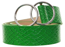 Impulse Green Circle Buckle Belt