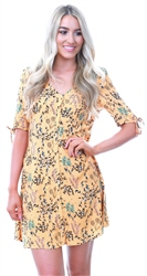 Veromoda Golden Nugget Easy Floral Button Dress