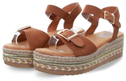 Refresh Camel Platform Open Toe Sandal
