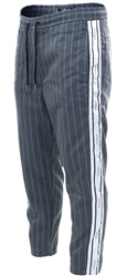 Siksilk Grey Pinstripe Grey Pinstripe Cropped Pants
