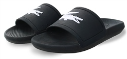 Lacoste Black Croco Slide Rubber Slides