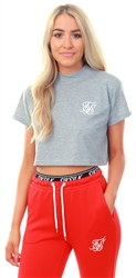 Siksilk Grey Marl Retro Box Crop S/S Tee