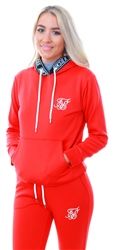 Siksilk Red/Navy Poly Tape Overhead Hoodie
