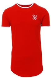 Siksilk Red / White Signature Ringer Tee