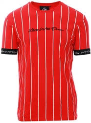 Kings Will Dream Red Clifton Pinstripe T-Shirt