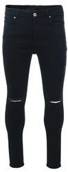 Kings Will Dream Black Lumor Skinny Distressed Jean