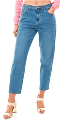 Noisy May Blue Denim Liv Nw Straight Fit Jeans