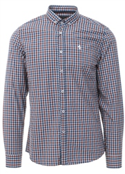Alex & Turner Rust Check Button Up Shirt