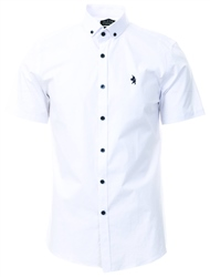 Alex & Turner White Short Sleeve Button Shirt