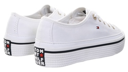 Tommy Jeans White Corporate Flatform Trainers