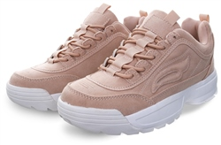Dv8 Nude Textured Chunky Lace Up Trainer