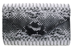 Koko Black Snake Texured Clutch Bag
