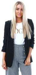 Pieces Black Long Classic Blazer