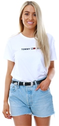 Hilfiger Denim White Cropped Logo T-Shirt