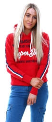 Superdry Red Nyc Varsity Embroidery Hoodie