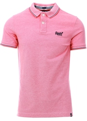 Superdry Coral Classic Poolside Pique Polo Shirt