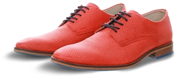 Bull Boxer Red Textured Lace Up Shoe