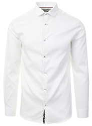 Jack & Jones White / White Slim Fit Shirt
