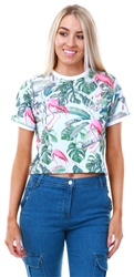 Hype Flamingo Flamingo Paradise Crop T-Shirt